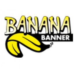 Banana Banner GUL