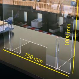 Beskyttelsesskærm i 5 mm acrylglas