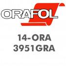 Oracal 3951GRA 10års, støbt printfolie
