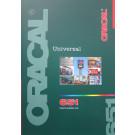 ORACAL 651, 5 års blank folie, 58 farver