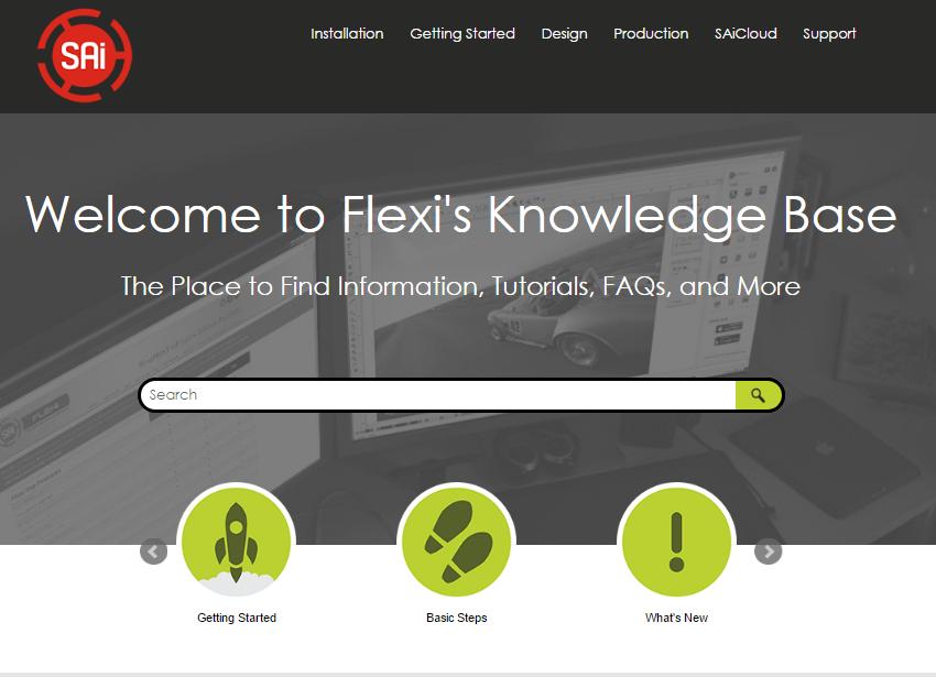 Klik og besøg Flexi's omfattende support base